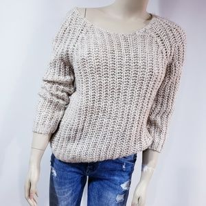 Anthropologie Knitted Knotted Sweater Medium